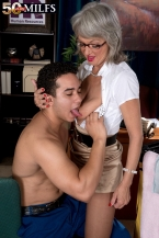 The horny boss female and the cleaning man