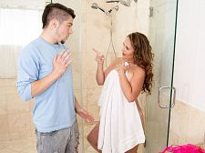 Brandii takes a shower with her son's superlatively worthy friend